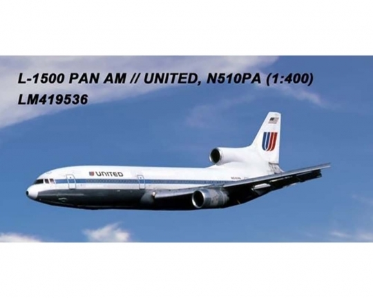 United L-1011 N510PA (1:400) by Lochness Airplane Models Item number LM419536