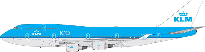 KLM B747-400 100 years PH-BFI (1:400)