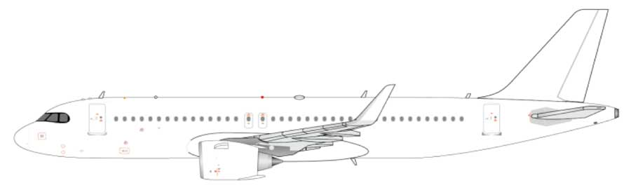 Airbus A320neo (1:200) - Blank White Model