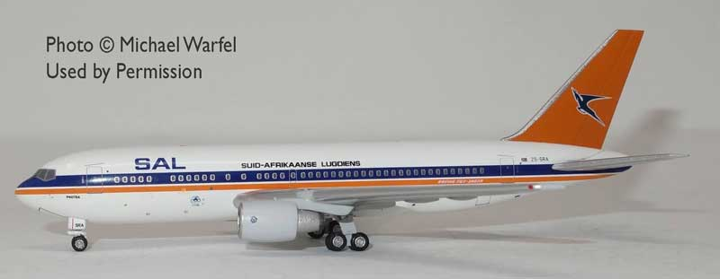 SAL South African 767-200 ZS-SRA Old Colors (1:400)