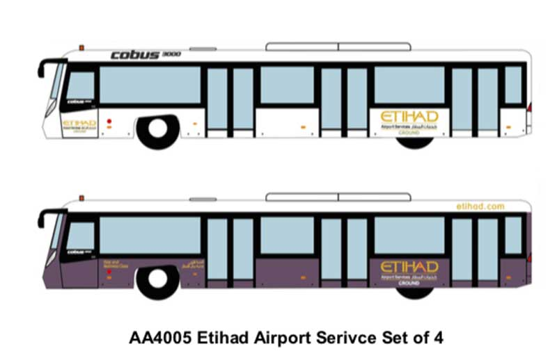 Airport Bus, Etihad Airways Set of 4 (1:400)