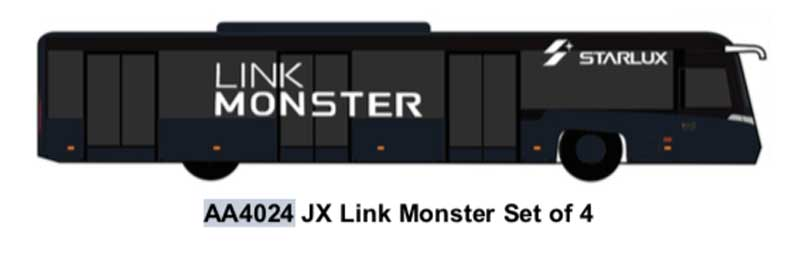 Airport Bus, JX Link Monster Set of 4 (1:400)