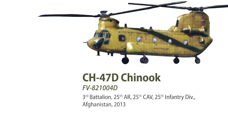 CH-47D Chinook Die Cast Model 3rd Battalion, 25th AR, 25th CAV, 25th Infantry Div., Afghanistan 2013 (1:72)