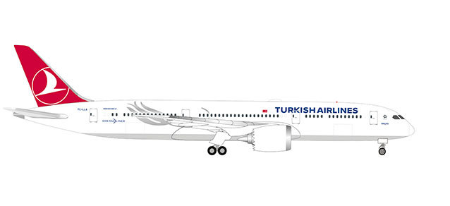 Turkish Airlines 787-9 TC-LLA (1:500)