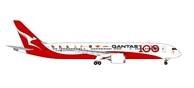 "Qantas 787-9 VH-ZNJ ""Longreach"" ""100 Years"" (1:200)"