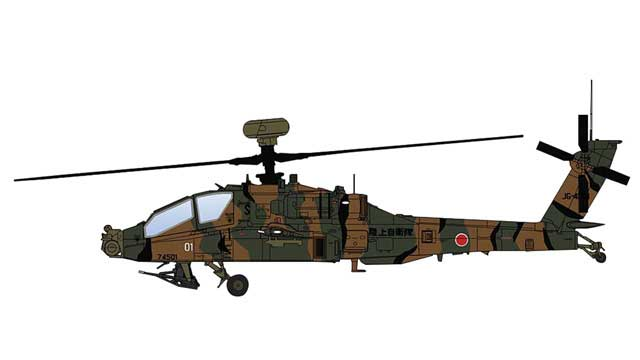 AH-64D Longbow Die Cast Model JG-4501, JGSDF, 2010s (1:72)