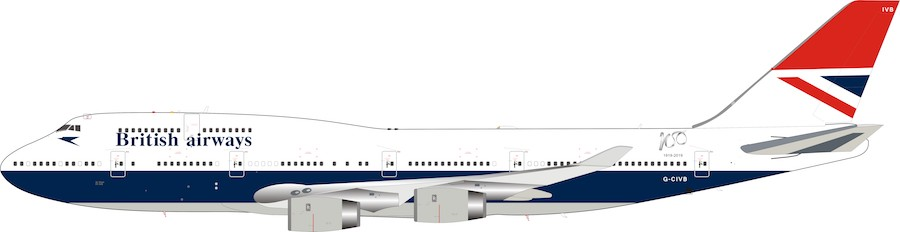 British Airways Boeing 747-400 G-CIVB Negus livery 100 year anniversary (1:200)