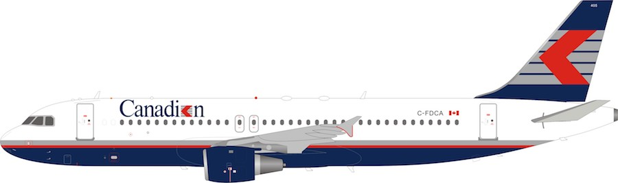 Canadian Airlines Airbus A320-200 C-FDCA (1:200)