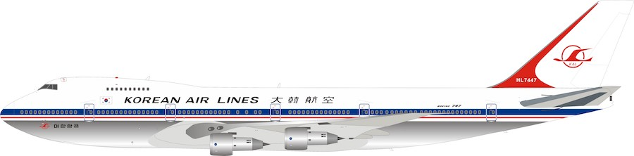 Korean Airlines Boeing 747-320B HL7447 Polished (1:200)