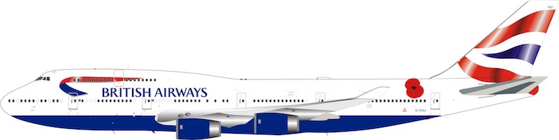 British Airways Boeing 747-400 G-CIVJ (1:200) limited 84 models