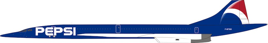 Air France Aerospatiale-British Aerospace Concorde 101 F-BTSD Pepsi (1:200)