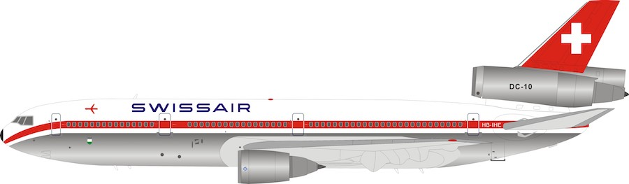 SwissAir DC-10-30 HB-IHE (1:200) Polished Metal