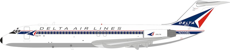 Delta Air Lines Douglas DC-9-32 N3336L With Stand (1:200)