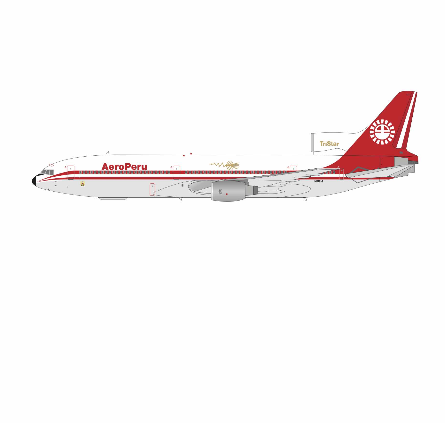 AeroPeru L-1011 N10114 with stand (1:200)