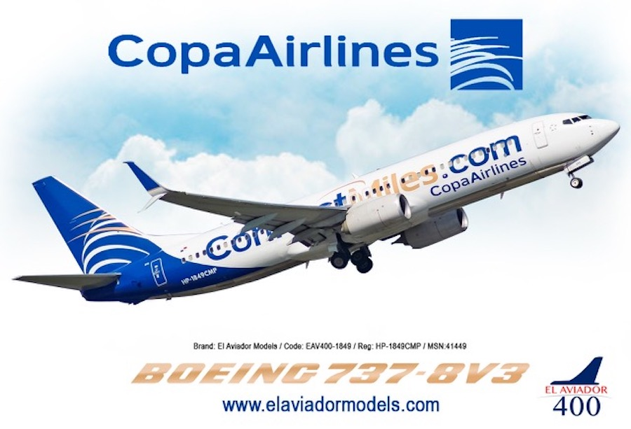 Copa Airlines Boeing 737-800 (Connect Miles Livery) HP-1849CMP (1:400)