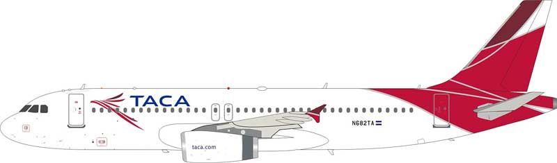 TACA A320 N682TA With Stand (1:200)