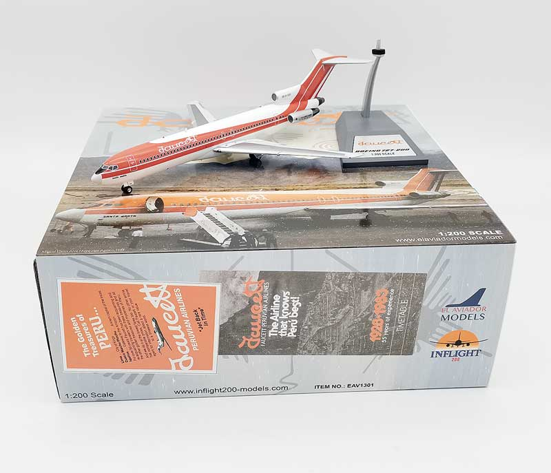 Faucett Peru Boeing 727-200 OB-R-1301 With Stand (1:200)