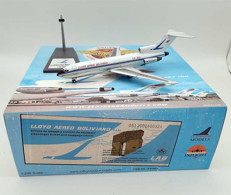 Lloyd Aereo Boliviano Boeing 727-100 CP-861 With Stand (1:200)
