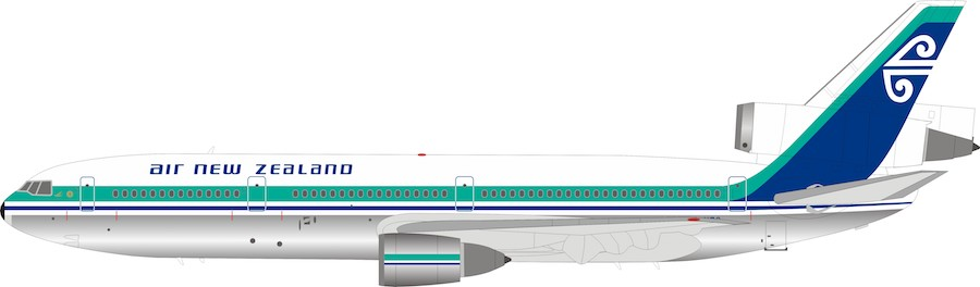 Air New Zealand Dc-10-30 ZK-NZQ Polished (1:200)