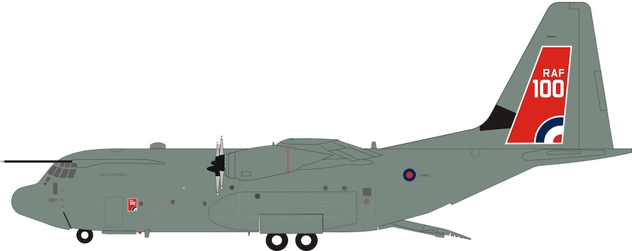 UK - Air Force Lockheed Martin C-130J Hercules C5 (L-382) ZH887 (1:200)