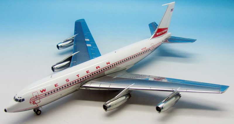 "Western Airlines Boeing 720-062 N720W Polished (1:200) ""Indian Head Livery"""