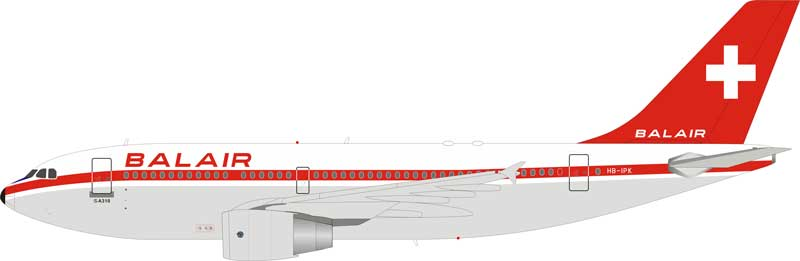 Balair Airbus A310-322 HB-IPK With Stand (1:200)
