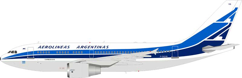 Aerolineas Argentinas Airbus A310-324 F-OGYR stand included (1:200)