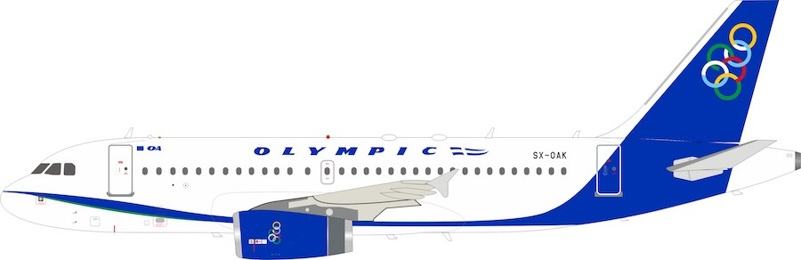 Olympic Airlines Airbus A319-100 SX-OAK (1:200)