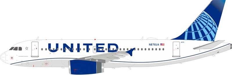 United Airlines Airbus A319-132 N876UA With Stand (1:200)