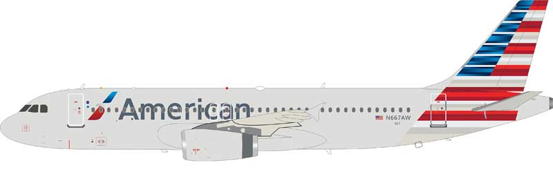 American Airlines Airbus A320-232 N667AW    (1:200)