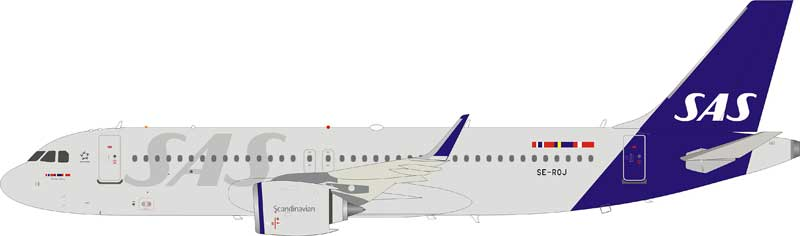 Scandinavian Airlines SAS Airbus A320-200 SE-ROJ With Stand (1:200)