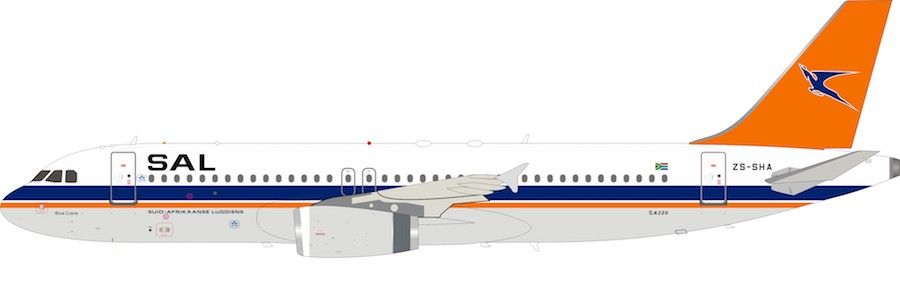 South African Airways Airbus A320-231 ZS-SHA (1:200)