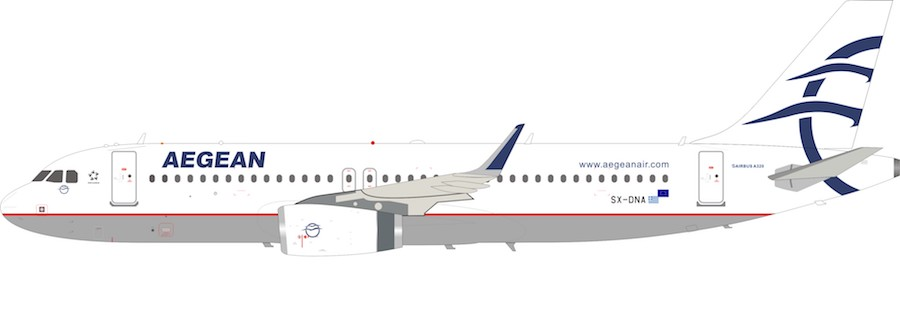 Aegean Airlines Airbus A320 SX-DNA (1:200)