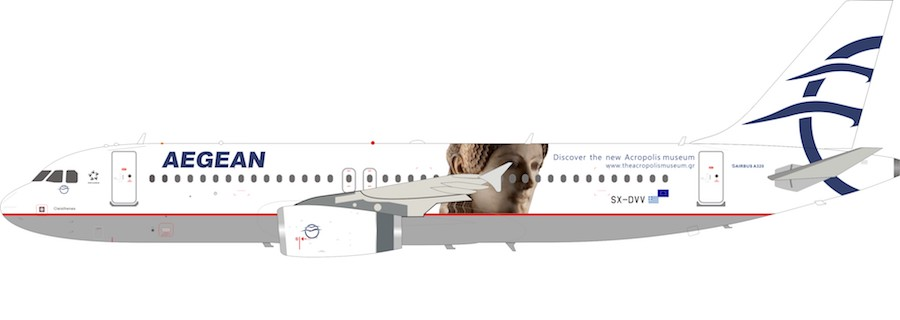 Aegean Airlines Airbus A320 SX-DVV (1:200)