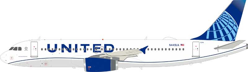 United Airlines Airbus A320-200 N449UA With Stand (1:200)