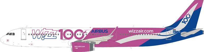 "Wizz Air Airbus A321-200 HA-LTD ""100th Airbus"" (1:200)"