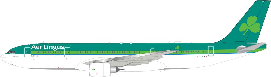 Aer Lingus Airbus A330-202 EI-LAX with stand (1:200)