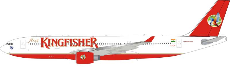Kingfisher Airlines Airbus A330-223 VT-AJP with stand (1:200)
