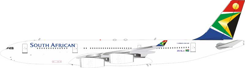 South African Airways Airbus A340-211 ZS-SLA stand included (1:200)