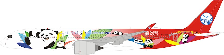 "Sichuan Airlines Airbus A350-900 ""Panda Route Livery"" B-306N With Stand (1:200)"