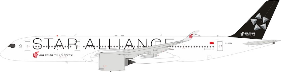 Star Alliance (Air China) Airbus A350-900 B-308M. With Stand (1:200)