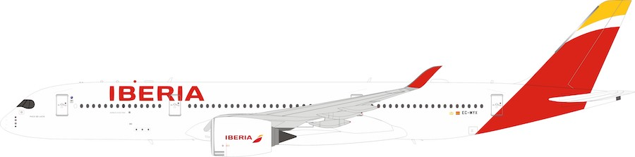 Iberia Airbus A350-900 EC-MYX With Stand LTD quantity 60 models (1:200)