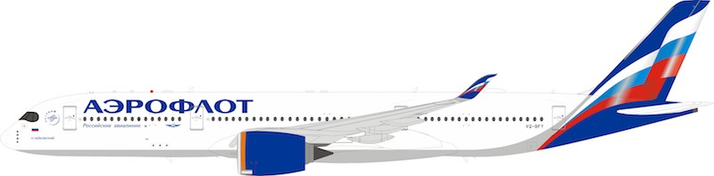 Aeroflot - Russian Airlines Airbus A350-900 VQ-BFY (1:200)