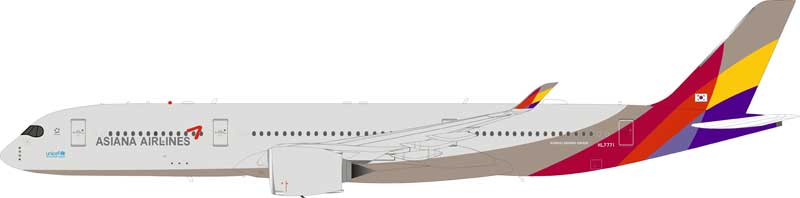 Asiana Airlines Airbus A350-900 HL7771 With Stand (1:200)