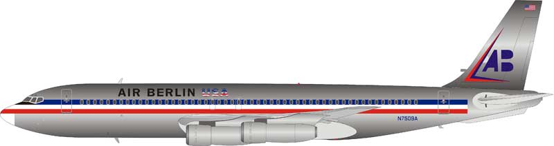 American Airlines Air Berlin Boeing 707-100 N7509A Polished (1:200)