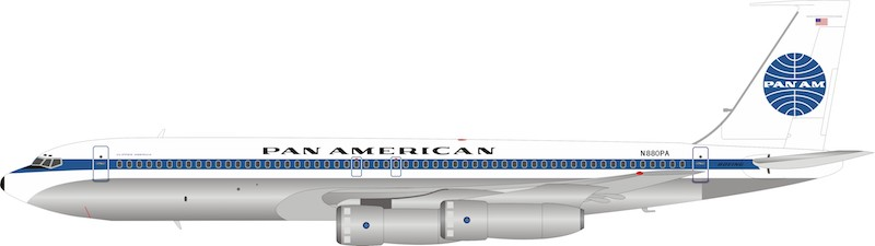 "Pan Am Boeing 707-300 N880PA ""Clipper America"" (1:200)"