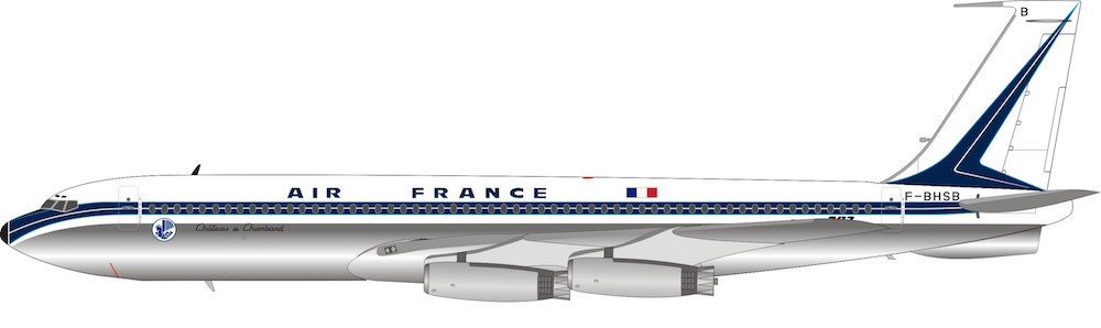 Air France Boeing 707-328 F-BHSB Polished With Stand Limited to 96 (1:200)