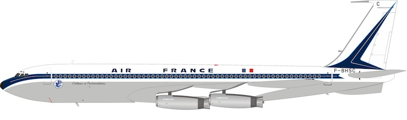 Air France Boeing 707-300 F-BHSC With Stand (1:200)