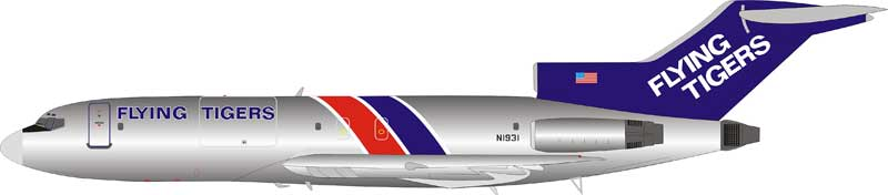 Flying Tigers Boeing 727-100 N1931 Polished (1:200) LIMITED