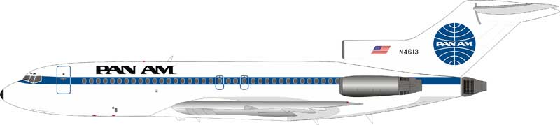 Pan Am Boeing 727-100 N4613 With Stand (1:200)